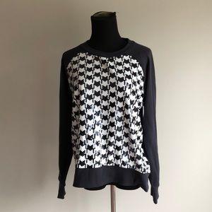 Michael Kors Sequined Houndstooth Sweatshirt